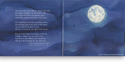 The Moon - Illustrated by Tracey Campbell Pearson / Endpapers