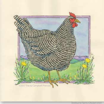 Shelburne-Farms-chicken shirt-byTraceyCampbellPearson