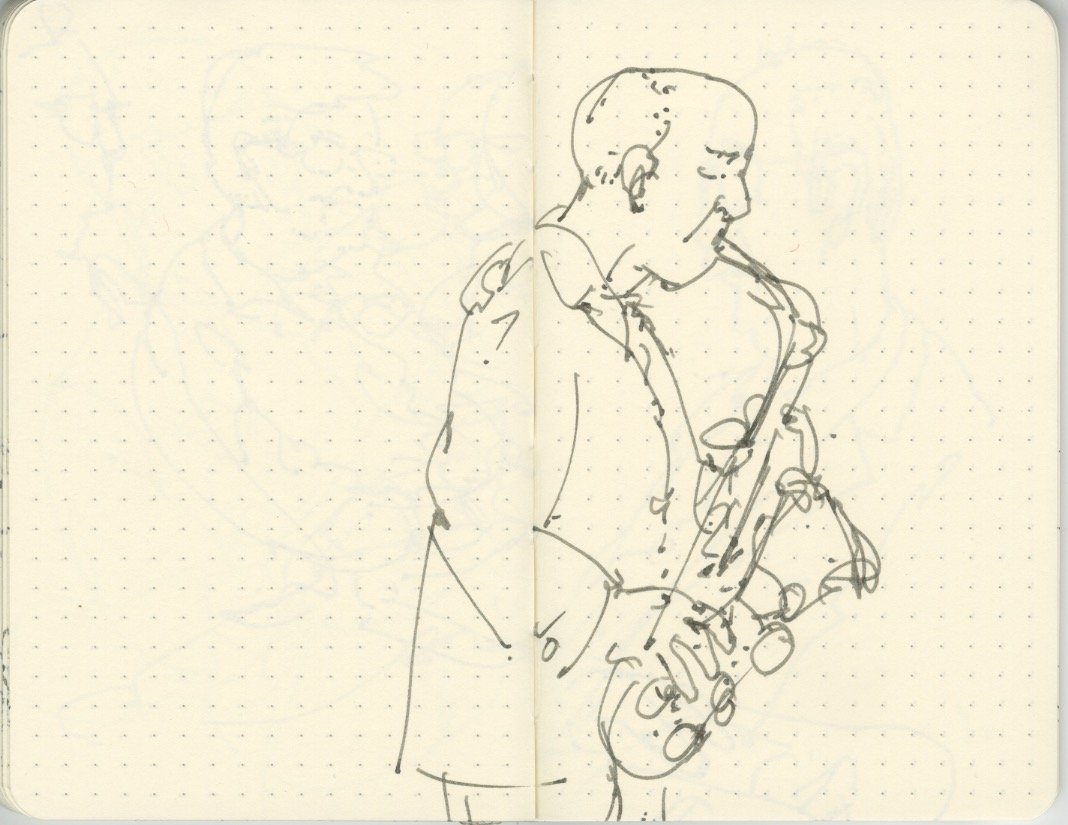 Sketchbook-Concert Sketches-Jazz-Flynn Space-Brian McCarthy- byTracey Campbell Pearson 3